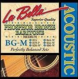 La Bella Jeu de cordes pour guitare baryton Phosphore/bronze Medium 15-80