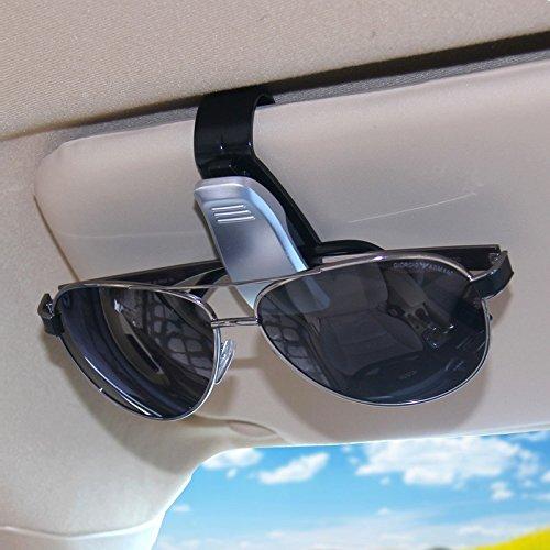 JenNiFer Auto-Brille Clip-Karte Clips Auto Fahrzeug Portable Eyeglassees Halter Zubehör - Silber