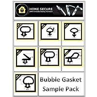 Bubble Gasket - Rubber Door And Window Seal Gasket - Black - Sample Pack uPVC Gasket Sample Pack