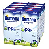 Humana Pre Anfangsmilch trinkfertig, 8er Pack (8 x 450 ml)