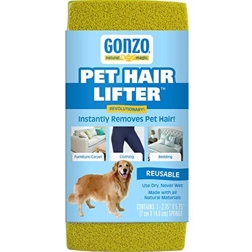 Gonzo Pet Hair Lifter-entfernen Dog, Cat Hair von Möbel, Teppiche, Bettwäsche, Kleidung, 1Schwamm