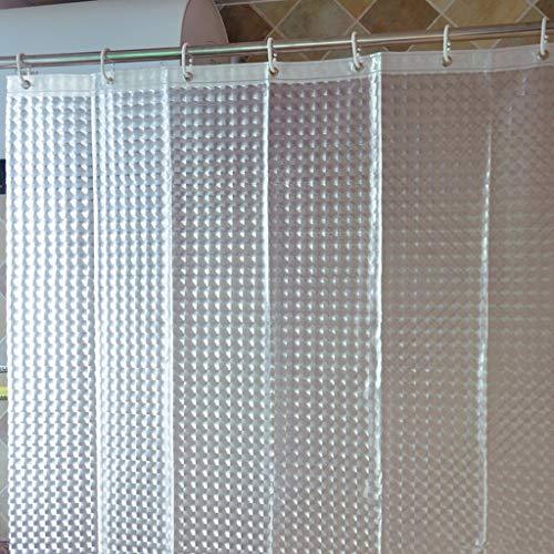FDCC Erru dicken Vorhang aus durchscheinendem Dusche warm und wasserdicht zu halten, um den Test Der ildewproof WC Badezimmer Rideau Wasserdicht der Partition (Größe: 180cm*200cm)
