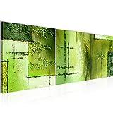 Bilder abstrakt Wandbild 120 x 40 cm Vlies - Leinwand Bild XXL Format Wandbilder Wohnzimmer Wohnung Deko Kunstdrucke Grün 3 Teile - Made IN Germany - Fertig zum Aufhängen 100933c
