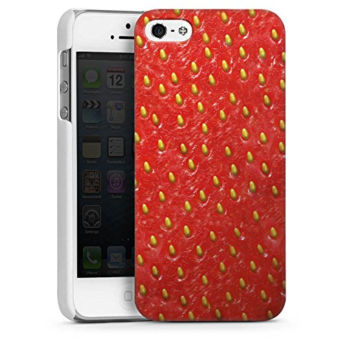 Apple iPhone 5 Housse étui coque protection Fraise Strawberry Strawberry CasDur blanc