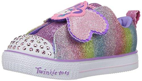 Skechers Shuffle Lite-Sparkle Pals, Scarpe da Ginnastica Bambina, Multicolore (Multicolour Mlt), 22 EU