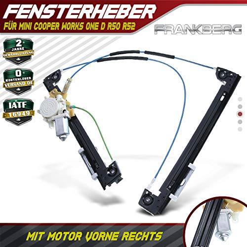 Frankberg Fensterheber Mit Motor Vorne Rechts für Cooper Works One D R50 R52 2001-2007 51337039452