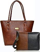 mammon Women's Handbag And Sling Bag Combo(Hs-Combo-Tb,Multicolor)