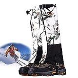 Guêtres jambe de chasse chaussures imperméables chaussure pare-neige couverture pour hommes et femmes, guêtres jambe de neige guêtres contre la protection de boue de serpent de bogue (1 paires),L