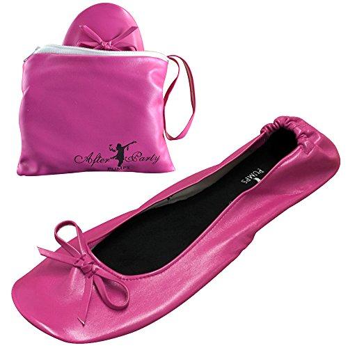 Faltbare Damenschuhe/Ballerinas in verschiedenen Farben , Pink - candy pink - Größe: 38 - 39