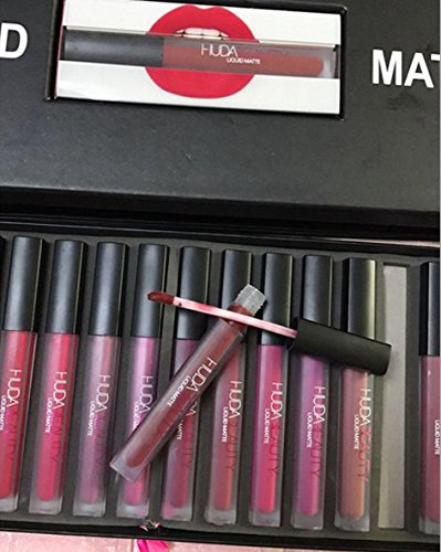 Himolla Himolla huda beauty Matte Gloss Gloss lipstick cup nonstick Gift Set 16 Set lipstick