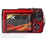 atFoliX Folie für Olympus TG-5 Displayschutzfolie - 3 x FX-Antireflex-HD hochauflösende entspiegelnde Schutzfolie