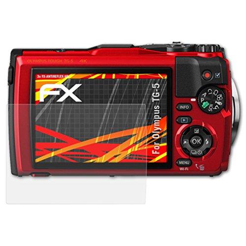 kompatibel mit Olympus TG-5 Displayschutzfolie, HD-Entspiegelung FX Folie (3X) ()