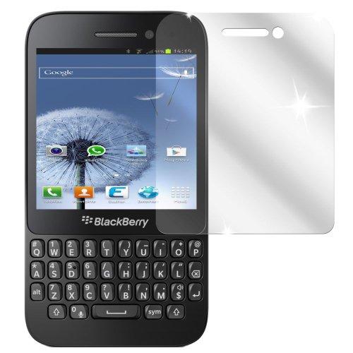 Ecultor I 6X Schutzfolie klar passend für BlackBerry Q5 Folie Bildschirmschutzfolie