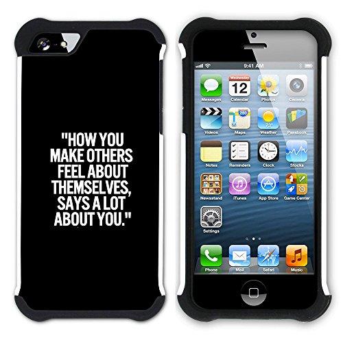 Graphic4You Hello? Englisch Zitat Nachricht Hart + Weiche Kratzfeste Hülle Case Schale Tasche Schutzhülle für Apple iPhone SE / 5 / 5S Design #18