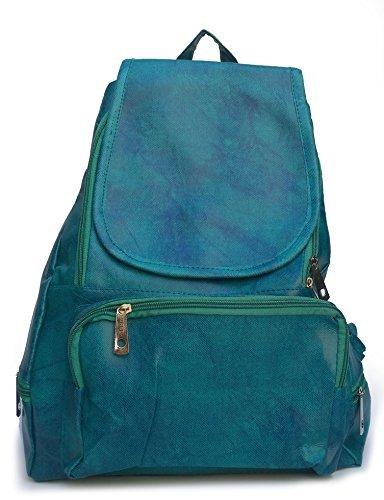 Alice women's ladies stylish P U backpack(Bag12,Green)