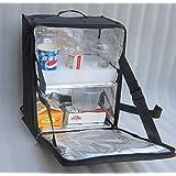 """pk-34z: Pizza bolsa de entrega, bebidas entrega mochila, potable entrega caja, café Carrier, mochila, aislante térmico w/divisor de rígido extraíble, carga lateral, 2Vías cremallera, 13""""L x 9"""" W x 18""""H"""