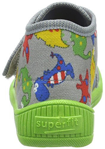 Superfit Bully, Chaussons garçon Gris - Grau (Stone Multi 07)
