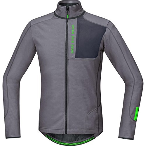 Gore Bike Wear Power Trail Thermo - Maillot para hombre, color gris, talla S