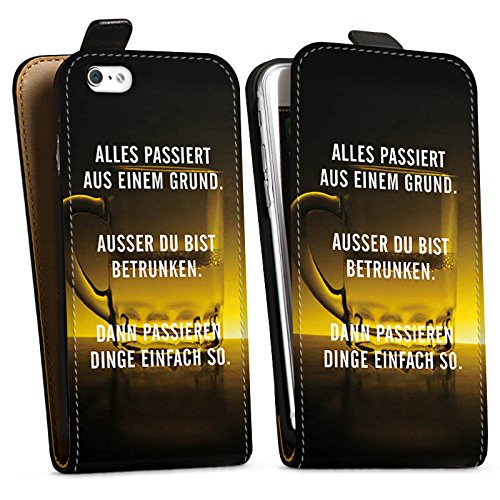 Apple iPhone X Silikon Hülle Case Schutzhülle Party Feiern Sprüche Downflip Tasche schwarz
