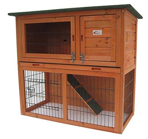 Kaninchenstall, Bunny Business, doppelstöckig, ausziehbare Reinigungsschale