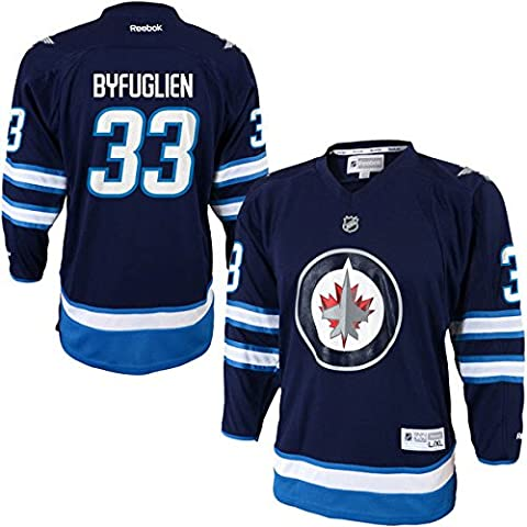 Youth Winnipeg Jets Dustin Byfuglien Reebok Navy Blue Replica Player Hockey Jersey (Youth S/M)
