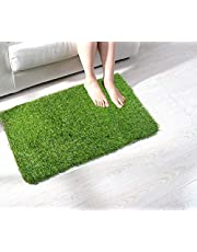 Cambik Natural Green Grass 52 mm Dense Heaviest Quality Indoor Gardening Durable Shrubs Carpets Doormats Rugs Balcony Lawn Garden Office Home Mat (16X24 Inch)