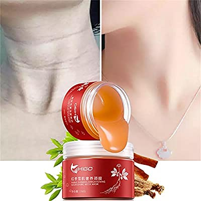 Bulary 150g Red Ginseng Neck Cream Firming Collagen Anti Wrinkle Anti Ageing Skin Care Whitening Moisturizing Firming Neck Care Health Neck Skin Delicate and Slippery