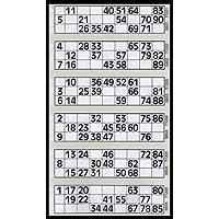 600 Bingo Tickets - Pad of Grey 6 to View Flyers