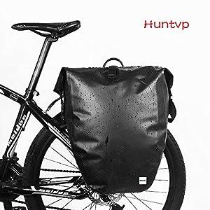 Huntvp 13L/25L/26L Bolsa Trasera de Bicicleta Impermeable y Multifunción Alforja Asiento Trasero Carrier Bolsas de Sillín Alforjas de Ciclismo