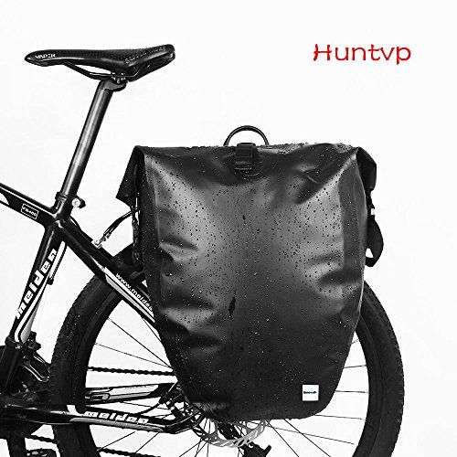Huntvp 26L Borsa per Bici Impermeabile Borsa Posteriore Bici per Portapacchi Custodia Laterale Zainetto da Bicicletta