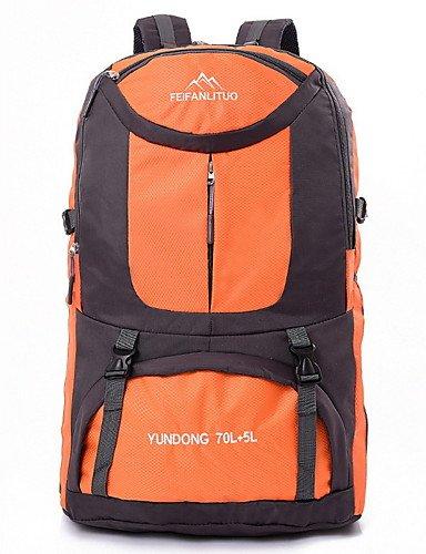 HWB/ 65L L Tourenrucksäcke/Rucksack Camping & Wandern / Klettern Draußen Multifunktions Grün / Rot / Schwarz / Blau / Orange Nylon No Orange