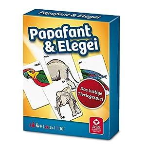 ASS Altenburger 22509584 - Papafant und Elegai (Papafante y elegayo), Juego de Tarjetas de Animales (versión Alemana), Color Azul