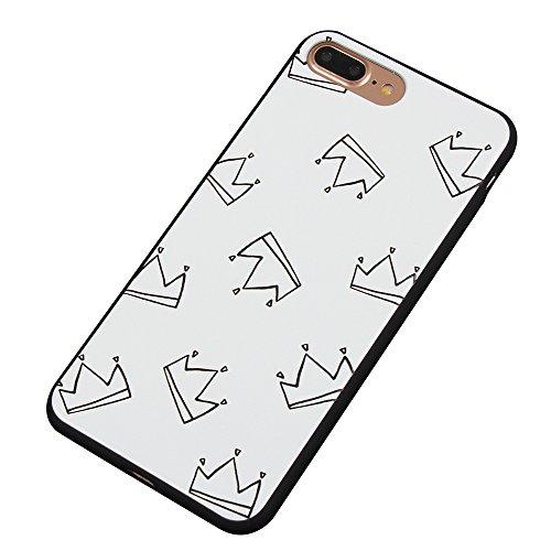 Cuitan 3D Relief Housse Case pour Apple iPhone 7 (4.7 Inch), Peinture Désign Silicone Doux Retour Housse Back Cover Protecteur Etui Coque Case Cover Housse Shell pour iPhone 7 (4.7 Inch) - Masque Couronne