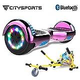 CITYSPORTS 6.5 Zoll Self Balance Scooter LED-Leuchten E-Skateboard Elektro Scooter HOVERKART(lila)