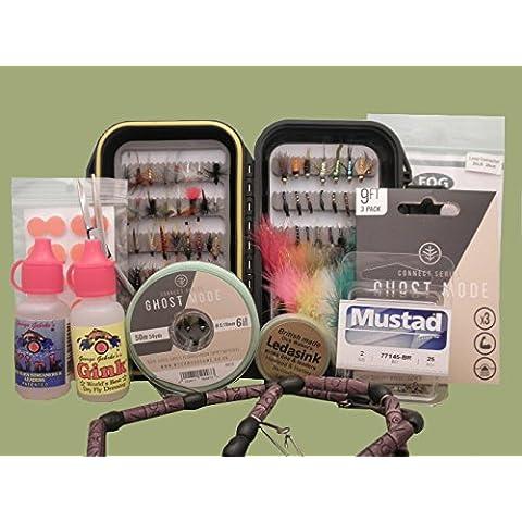 Pesca con la mosca, confezione regalo di mosche e accessori, confezione regalo disponibile (SET5), No gift box - Pesca A Mosca Indicatori Sciopero