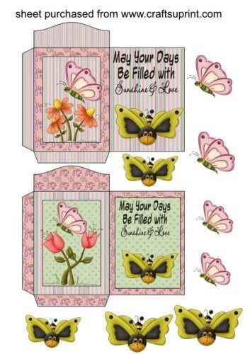 Feuille A4 pour confection de carte de vœux - 2 Butterbees seed packets par Sharon Poore