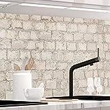 StickerProfis Küchenrückwand selbstklebend - ALTE Mauer - 1.5mm, Versteift, alle Untergründe, Hart PVC, Premium 60 x 400cm