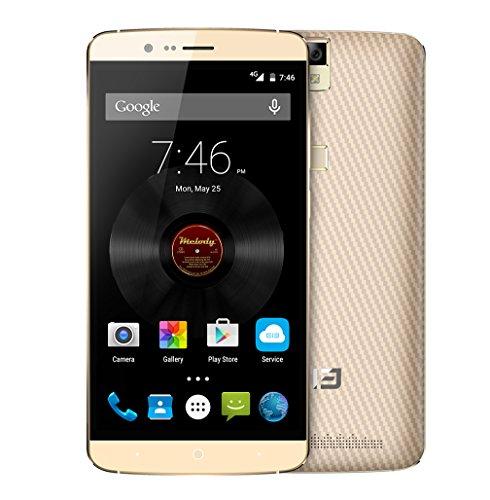 Elephone P8000 4G Smartphone MTK6753 64bit Octa Core Touch ID 5,5 Pollici FHD 3GB RAM 16GB ROM 13MP Fotocamera 4165mAh Battery Oro