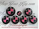 Schwarz & Hot Pink Gloss Badge Emblem Overlay puze Trunk Felgen passend für alle MSPORT