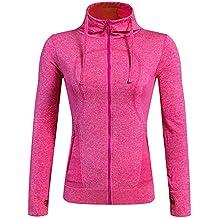 YiJee Damen Jacke Sportjacke Laufjacke Fitnessjacke Funktionsshirt Yoga