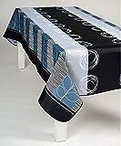 Nappe Gribouillage rectangulaire - Anti Taches - 100% Polyester (Tissu) - Noir, 300x150cm, Rectangulaire