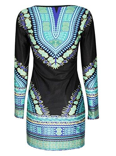 E-Girl FOB22019 femme moulante Robe de soirée Multicolore