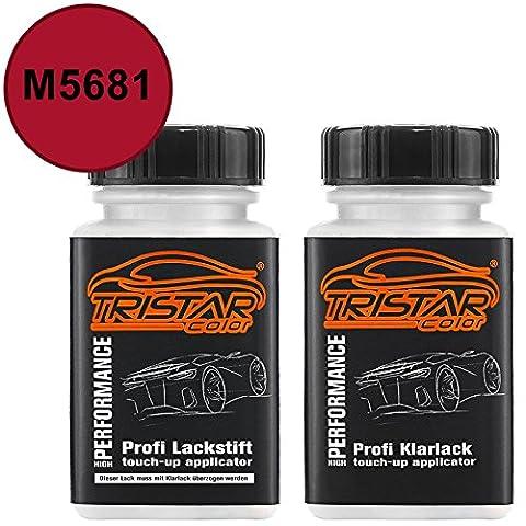 Autolack Lackstift Set Ford / Lincoln / Mercury M5681 Candy Apple Red Basislack Klarlack je 50ml