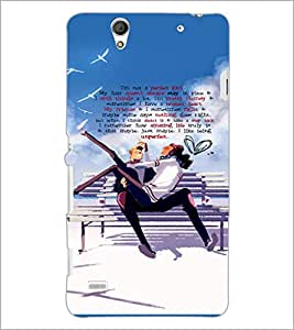 PrintDhaba Quote D-3035 Back Case Cover for SONY XPERIA C4 (Multi-Coloured)