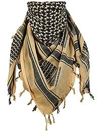 Shemagh Scarf Keffiyeh Arab Wrap Army Military Tactical Desert Neck 100% Cotton Mens Veil Head Cuadros Unisex Head Scarf
