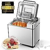 Aicok Machine à Pain 19 Programmes Inox 500g-1kg Pour Baguette, Machine a Pain Automatique pour...