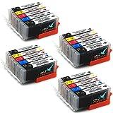 20 Drucker Patronen kompatibel zu Canon PGI 550 BK CLI 551 C CLI 551M CLI 551 Y und CLI 551 PBK für Canon Pixma MX925 MX725 IP7250 MG5450 MG 5655 MG6350 MG7150 MG 6450 MG 5550