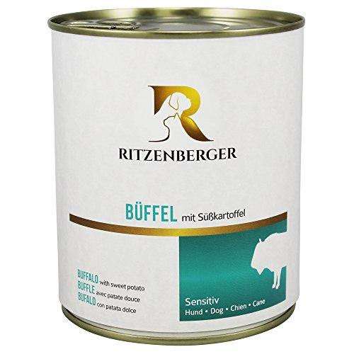 Ritzenberger, cibo per cani, Bufalo con patata dolce, 6 x 800g, Sensitiv