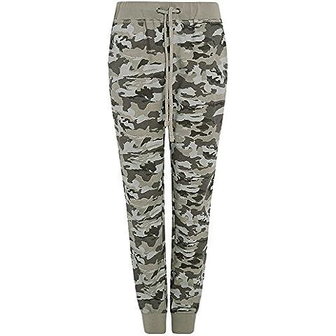 oodji Ultra Donna Pantaloni in Maglia Stile Militare