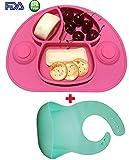 Bambini Set Tavolo & ventosa Piatto in un, non unordnung Bath & Baby Happy Face Pappe Set.Perfetto per seggiolone